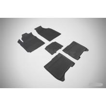 Резиновые коврики с высоким бортом для Chery Bonus III 2014-н.в.