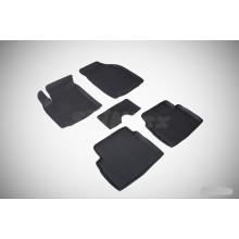 Резиновые коврики с высоким бортом для Chevrolet Aveo I 2003-2011
