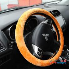 Оранжевая велюровая оплетка на руль